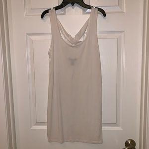 Forever 21 M White cotton bodycon strapback dress